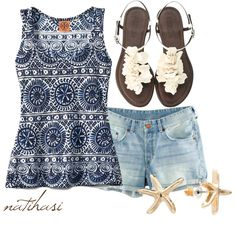 """""""Greece Summer Outfit"""" by natihasi on Polyvore"""