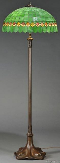 Lighting America Mosaic Gl Floor Lamp Bronze Patinated Hammered Sheet Copper Molded