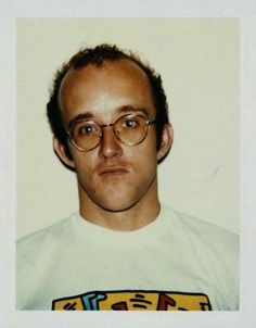 Keith Haring, 1986, polaroid by Andy Warhol