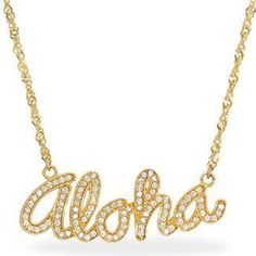 Maui Divers Jewelry Aloha Necklace with Diamonds as seen on Lucy Hale