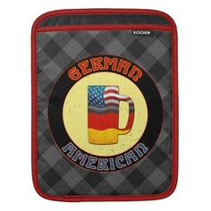 #German American Flags iPad Sleeve, available to purchase at #Zazzle.com #germanamerican #germany #deutschland