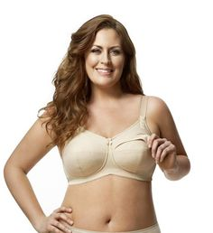 e2a96d1aab1d9 Elila Nursing Bra - Full Support Soft Cup Nursing Bra in curvy and plus  sizes.