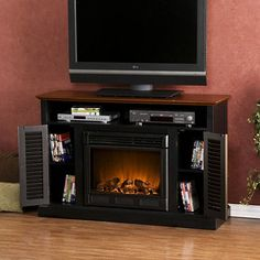 Chatsworth Electric Fireplace Media Console - Two Tone 412.00 Sams club