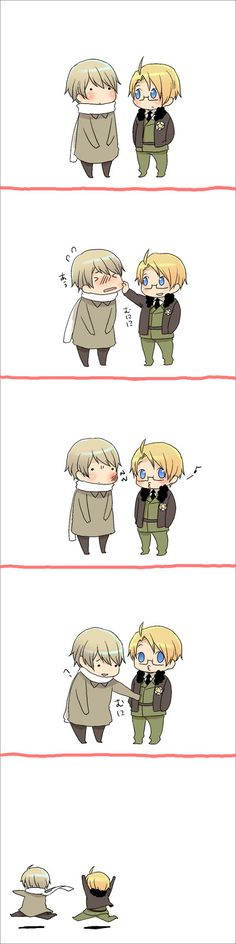 Hetalia - America / Russia that too funny this made me smile :)