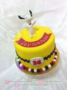 Snoopy cake. Hand crafted cake topper. Puerto Ordaz/ Venezuela