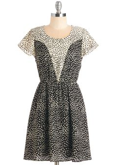 Spot Diggity! Dress. Flaunt your awe-inspiring style in this delightful black-and-white frock.  #modcloth