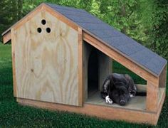 Need a new comfortable, easy-to-build house for your furry friend? Get inspired by this collection of 36 free DIY dog house plans and ideas. Winter Dog House, Dog House With Porch, Porch House Plans, Dog House Plans, House Dog, Pallet Dog House, Build A Dog House, Build Your Own Shed, Cool Dog Houses