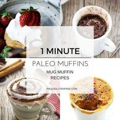 Top 10 One Minute Paleo Muffin Recipes - Paleo Gluten Free Eats