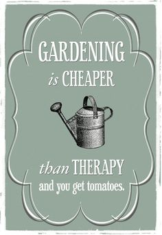 gardening vs therapy