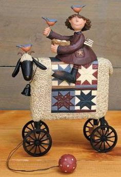 Amazon.com: Williraye Studio Girl on Sheep Pull Toy Figurine WW7891: Home & Kitchen
