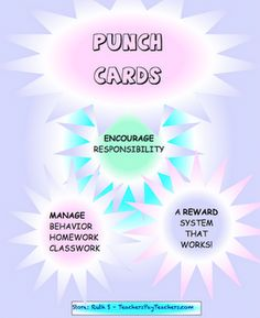 Punch or Stamp Cards for Class Management
