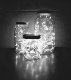 How to Make a DIY Glow Jar Learn how to make mason jar luminaries with o. - How to Make a DIY Glow Jar Learn how to make mason jar luminaries with our quick and easy # - Glow Jars, Christmas String Lights, Christmas Lights In Bedroom, Unique Christmas Trees, Cute Room Decor, Room Lights Decor, White Lights Decor, Mason Jar Crafts, Mason Jar Diy