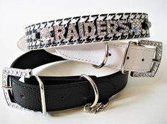 Raiders Dog Collar  LA Raiders Collar  Matching Leash