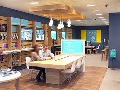 Retail design for EE training academy. #Retaildesign, #Design, #EE, #Brand. Designed by: http://www.theoneoff.com