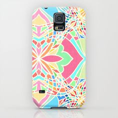 Moroccan Inspired Bright Pastel Doodle Design iPhone & iPod Case