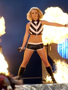 Britney performing at NFL Kickoff in 2003