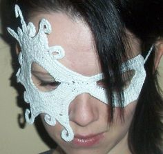 Ravelry: Half Face Lace Masquerade Mask pattern by Farrah for 365 Crochet