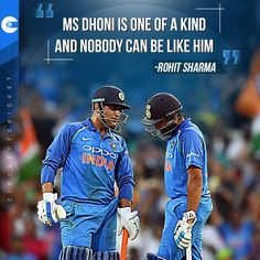 Rohit Sharma heaps praise on MS Dhoni after captaincy comparisons were made between the two iconic cricketers