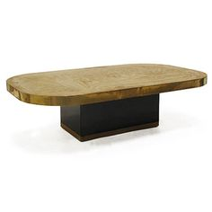 Vintage Rectangular Coffee Table With Rounded Corners And Etched Gold Metal Top Belgium 1970 S