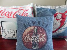 Coca Cola Collectable Pillows Bear with Cubs Decorative Pillow Lot of 3   eBay
