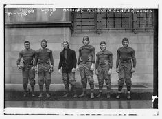 Data provided by the Bain News Service on the negative. Photo shows the United States Military Academy (West Point) football team including, Captain Benjamin F. Hoge, Walter W. Wynne and Frank W. Milburn. George Grantham Bain Collection (Library of Congress).