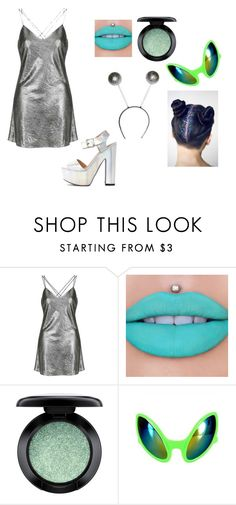 """Alien Costume"" by oliviaf14 on Polyvore featuring Topshop, Jeffree Star and MAC Cosmetics"