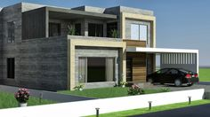 626 best Front elevation images on Pinterest in 2018   Modern homes     1 Kkanal Old Design Convert to Modern Contemporary Design Renovation  in  Valencia Town Lahore