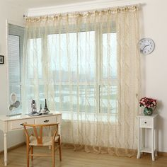 Promotion window screening tulle modern sheer curtains for living room the bedroom chinese embroidered voile curtains in stock-in Curtains from Home & Garden on Aliexpress.com | Alibaba Group