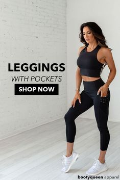 Shop Now! Leggings With Pockets. HIGH-WAIST OBSESSION LEGGING- BLACK. Introducing the Obsession Collection. A line that was developed to perform with you in the gym and flow with you in the studio. The custom made BootyQueen material in this line shapes, lifts, and celebrates the contour and curves of a woman's body while having the softness, stretch and comfort. High Quality Leggings With Pockets. #leggings #leggingswithpockets #blackleggings #bestleggings