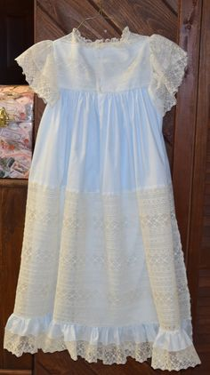 a746398fb Chery Williams Pattern Ecru antique lace White Giger Swiss Batiste ...