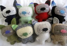 Moderncat Etsy Find: Repurposed Sweater Kitties from Sighfoo | moderncat :: cat products, cat toys, cat furniture, and more…all with modern style
