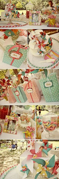 Vintage pinwheel party favorite-parties