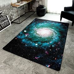 Amazon.com: Wolala Home™Abstract Design Unique Stars Moonlight Living Room Rug Modern Creative Fashion Planet Bedroom Bedside Area Rug Black (4'6x6'6, Moon): Kitchen & Dining