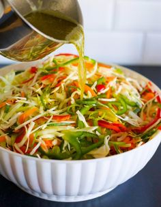 Three-week salad - White cabbage salad with long durability Good Healthy Recipes, Clean Recipes, Raw Food Recipes, Veggie Recipes, Wine Recipes, Healthy Snacks, Vegetarian Recipes, Healthy Eating, Cooking Recipes