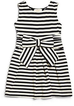 Kate Spade New York Toddler's & Little Girl's Bow Front Striped Knit Dress
