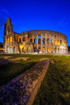 Sunrise in Colosseum, Rome, Italy