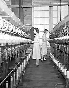 ConDev1824C two women-Gastonia mill 1938 by State Archives of North Carolina, via Flickr