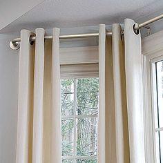 diy bay window curtain rod for less than 10 diy bay window curtains bay window curtain rod and bay window curtains