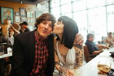 Oliver Sykes and Hannah Snowdon