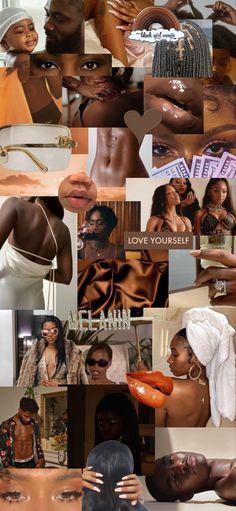 Black Girl Art, Black Women Art, Black Girl Magic, Black Girls, Black Girl Aesthetic, Brown Aesthetic, Aesthetic Collage, Retro Aesthetic, Brown Skin Girls