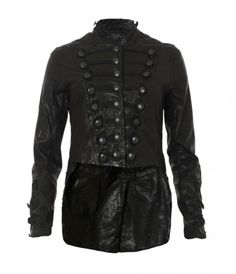 Tailcoat leather military jacket // All Saints
