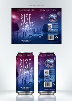 dreamy Beer can design for the amazing guys at Connecticut Valley Brewing Company.