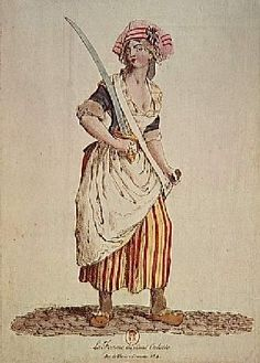Stripes worn in support of the French Revolution 1789.