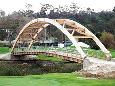 chinese timber frame architecture | Glue laminated timber bridge