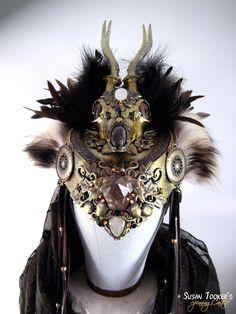 faerie head dress | Tribal Deer Antler Headdress Ritual Crown Medieval Gothic Woodland ...