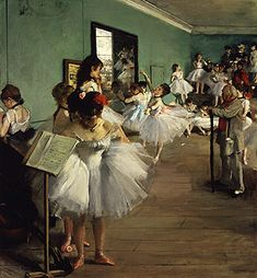 "EDGAR DEGAS: ""La clase de danza"", c.1874"