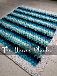 CROCHET PATTERN  Baby Blanket, Waves and Pebbles Crochet Blanket PDF pattern,photo tutorial, larksfo