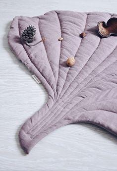 Pretty Handmade Linen Ginko Leaf Baby Playmat | LaPetitePersonneShop on Etsy #nurserydecor