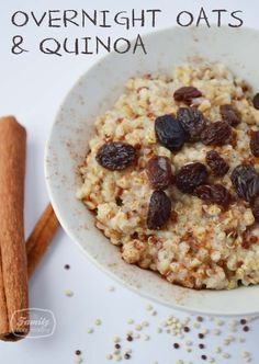 Overnight Oats with Quinoa - from 50 of the BEST Quinoa Breakfast Recipes Quinoa Breakfast, Breakfast Dishes, Breakfast Recipes, Real Food Recipes, Cooking Recipes, Yummy Food, Cooking Corn, Cooking Games, Gluten Free Breakfasts