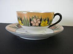 Vintage Rare Noritake Tea Cup and Saucer Lusterware by oldandnew8, $20.00